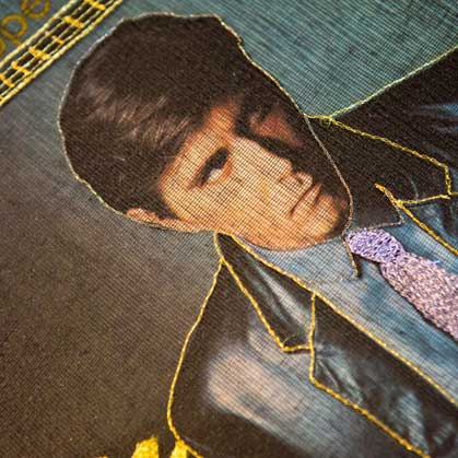 Delphine-Leverrier Bryan-Ferry vinyle broderie