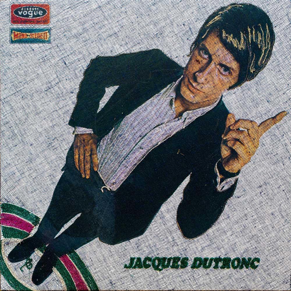 Delphine-Leverrier Jacques-Dutronc vinyle broderie