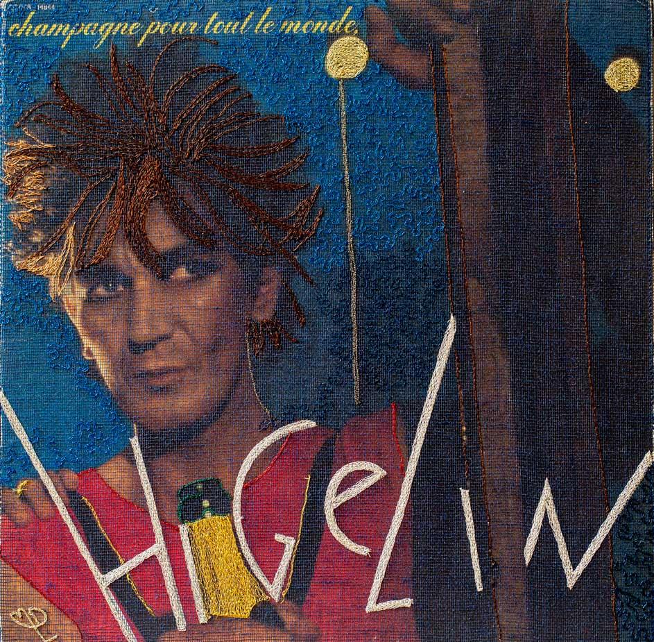 Delphine-Leverrier Jacques-Higelin vinyle broderie