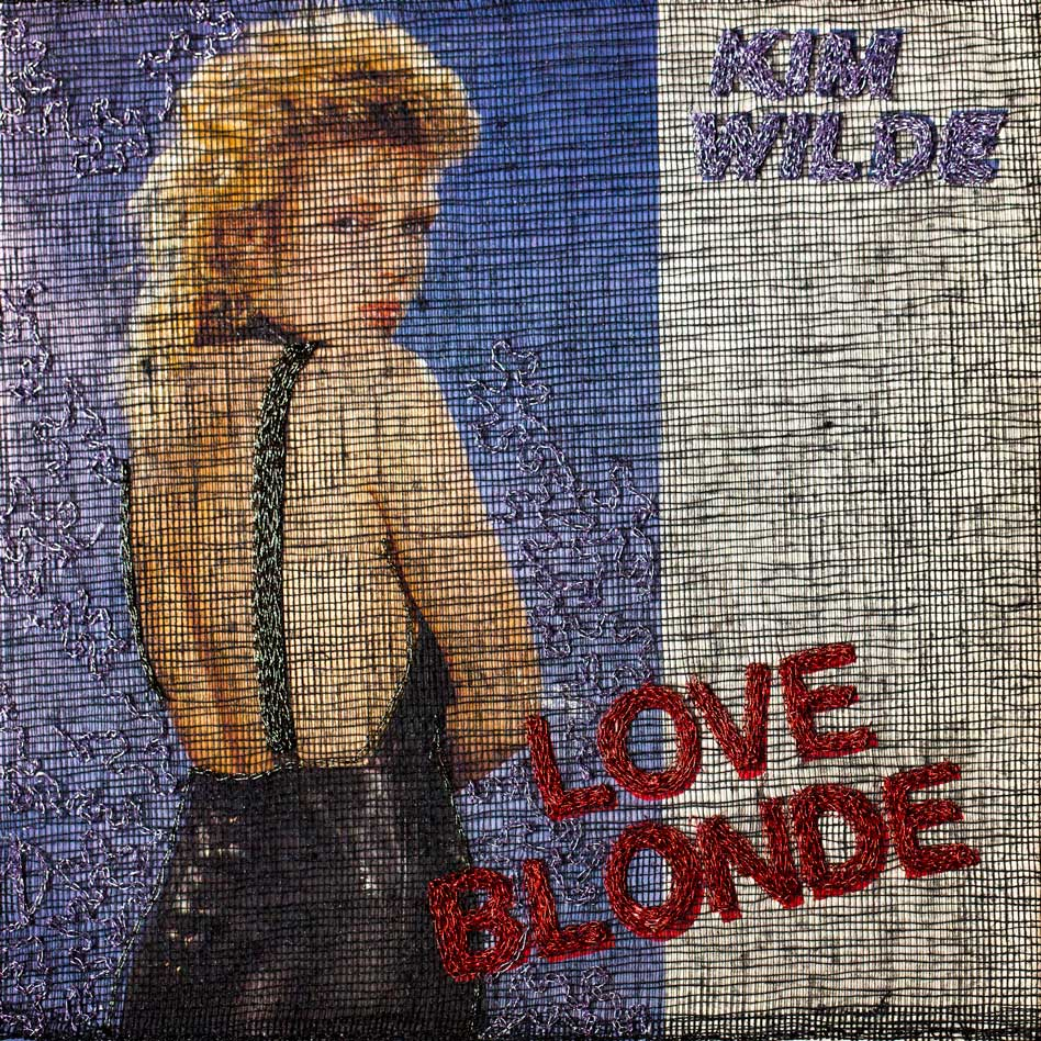 Delphine-Leverrier Kim-Wilde vinyle broderie
