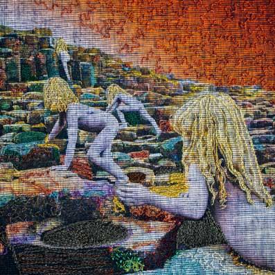 Delphine-Leverrier Led-Zeppelin vinyle broderie