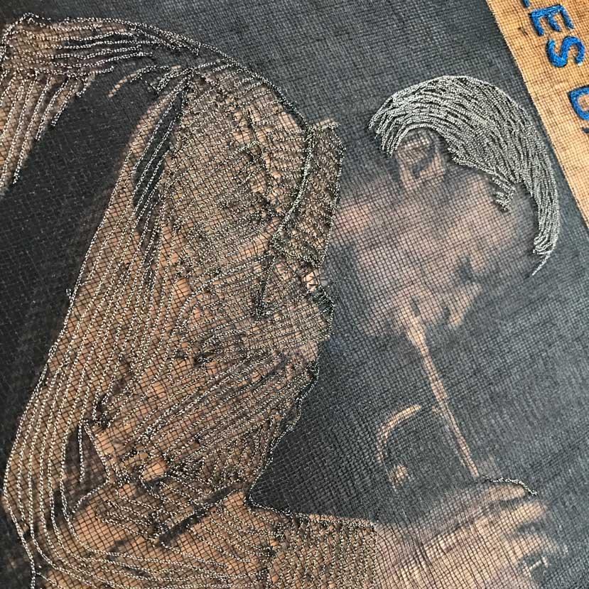 Delphine-Leverrier Miles-Davis vinyle broderie