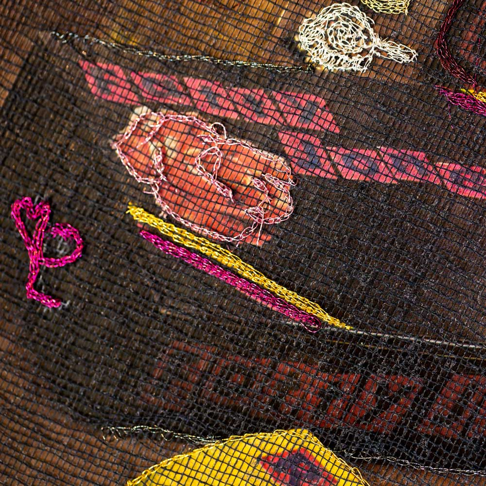 Delphine-Leverrier Sex-Pistols vinyle broderie