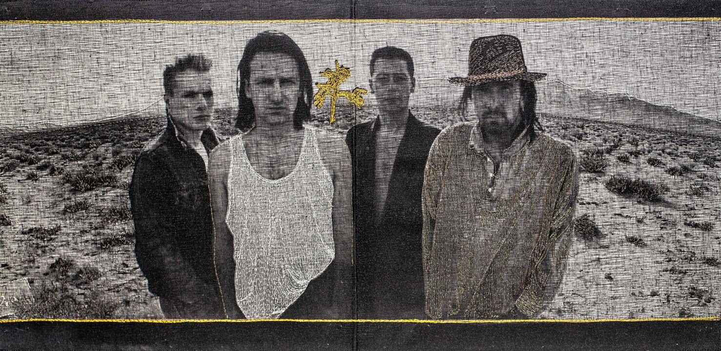 Delphine-Leverrier U2 vinyle broderie