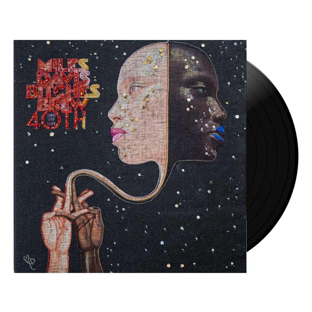 Delphine Leverrier Miles Davis vinyle brodé