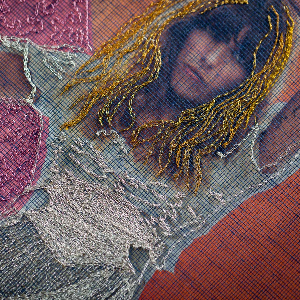 Delphine Leverrier broderie sur vinyle